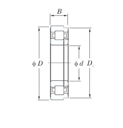 260 mm x 480 mm x 80 mm  KOYO NUP252 cylindrical roller bearings