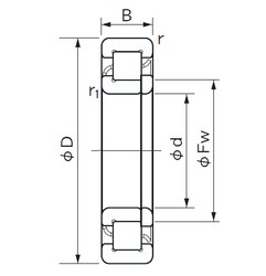 260 mm x 480 mm x 80 mm  NACHI NUP 252 cylindrical roller bearings