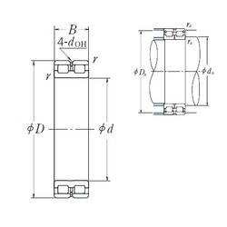 160 mm x 220 mm x 60 mm  NSK RSF-4932E4 cylindrical roller bearings