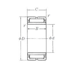 160 mm x 220 mm x 60 mm  NSK NA4932 needle roller bearings